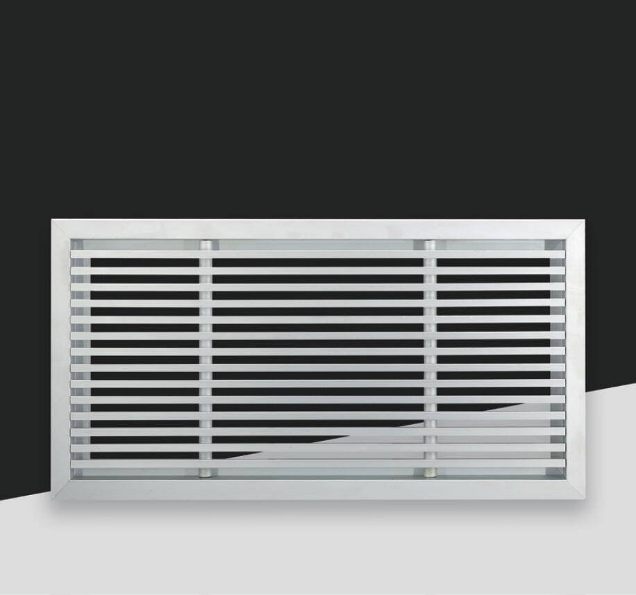 FK061-0° Floor air grille with 0° angle blades