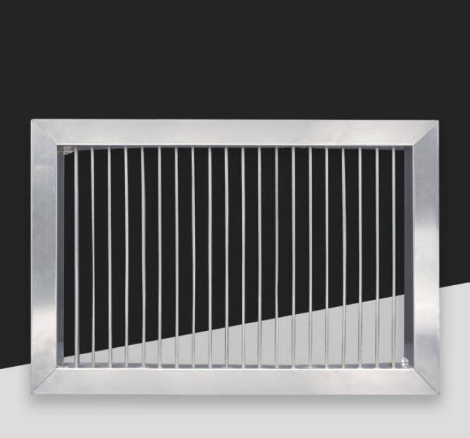 BX-003 SUS Square single layer bar grille