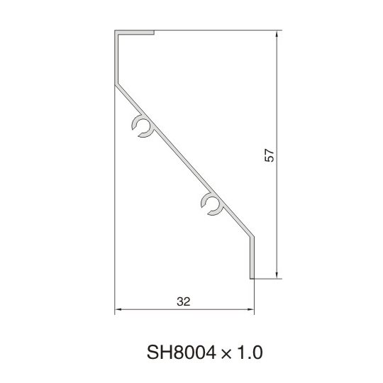 SH8004 AIR DIFFUSER PROFILE