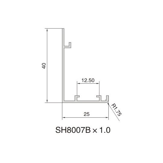 SH8007B AIR DIFFUSER PROFILE
