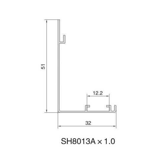 SH8013A AIR DIFFUSER PROFILE