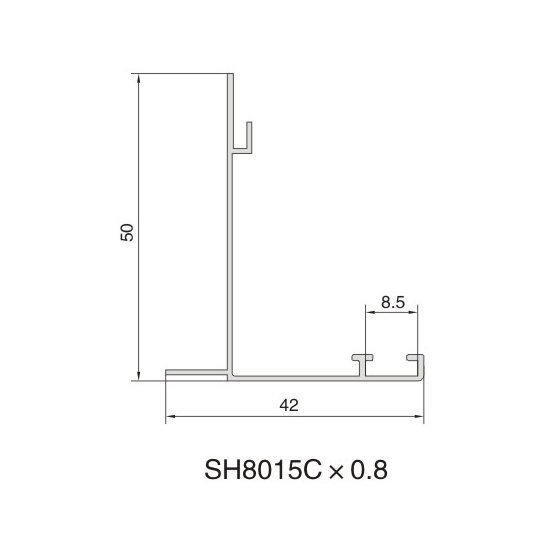 SH8015C AIR DIFFUSER PROFILE