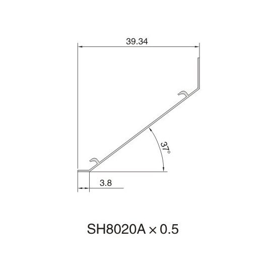 SH8020A AIR DIFFUSER PROFILE