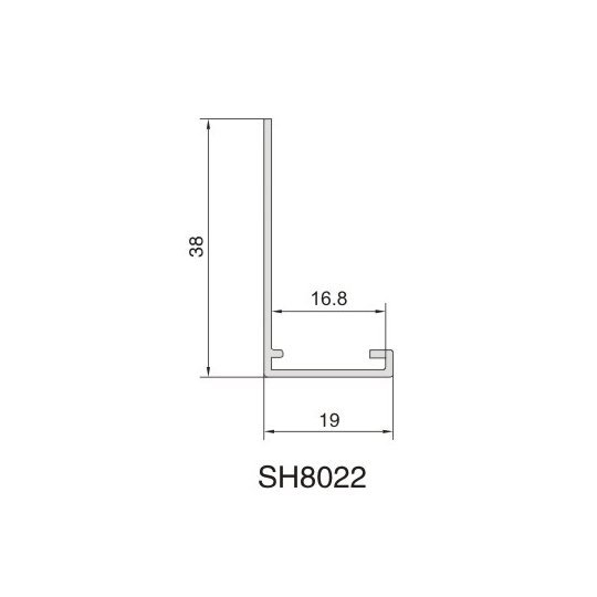 SH8022 AIR DIFFUSER PROFILE