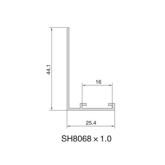 SH8068 AIR DIFFUSER PROFILE